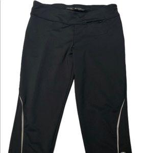 Champion crop medium black leggings gently used